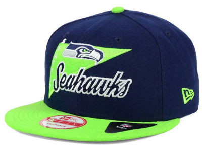 Seattle Seahawks New Era NFL Logo Stacker 9FIFTY Snapback Cap