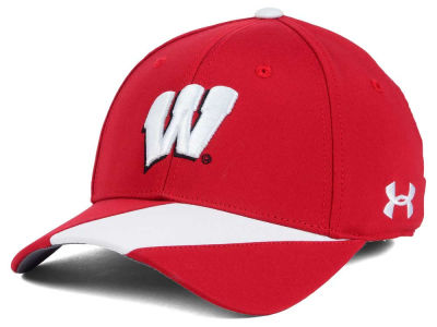 Wisconsin Badgers NCAA Renegade Accent Stretch Cap