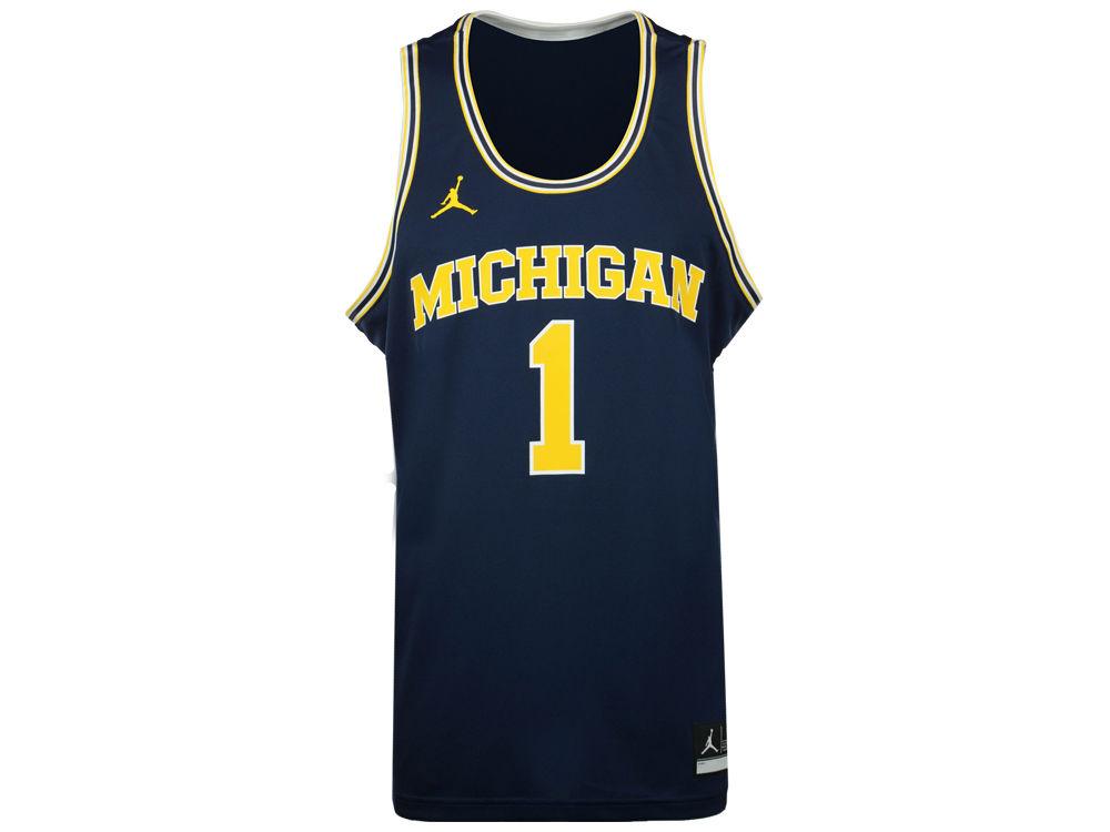 Michigan Wolverines Nike NCAA Men s Replica Basketball Jersey. Michigan  Wolverines Nike NCAA Men s Replica Basketball Jersey e95f5ab44