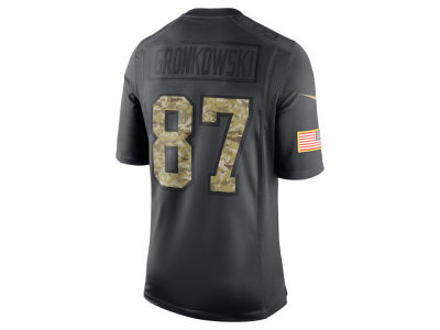 New England Patriots Rob Gronkowski  Nike NFL Men's Salute to Service Jersey