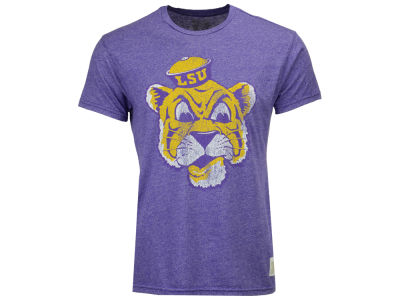 LSU Tigers Retro Brand NCAA Men's Mascot Mock Twist T-Shirt