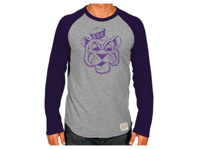 LSU Tigers Retro Brand NCAA Men's Retro Bart 3/4 Sleeve Raglan T-Shirt