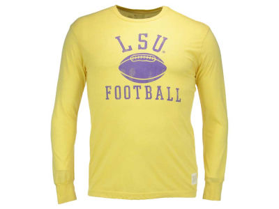 LSU Tigers Retro Brand NCAA Men's Retro Jason Mock Twist Long Sleeve T-Shirt
