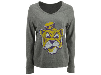 LSU Tigers Retro Brand NCAA Women's Retro Debby Quad Sweatshirt