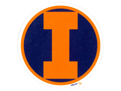 Illinois Fighting Illini 4x4 Die Cut Decal Color