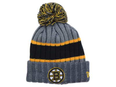 Boston Bruins New Era NHL Stripe Chiller Pom Knit
