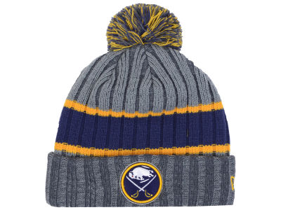 Buffalo Sabres New Era NHL Stripe Chiller Pom Knit