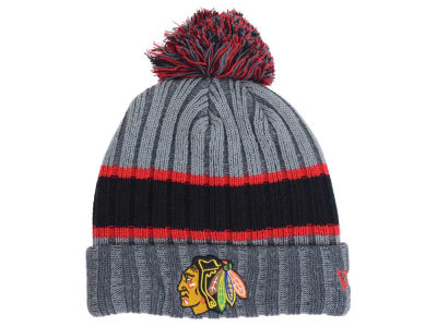 Chicago Blackhawks New Era NHL Stripe Chiller Pom Knit