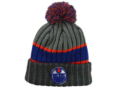 Edmonton Oilers New Era NHL Stripe Chiller Pom Knit