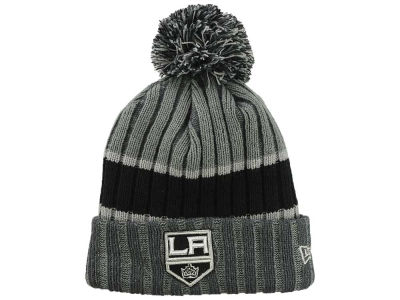 Los Angeles Kings New Era NHL Stripe Chiller Pom Knit