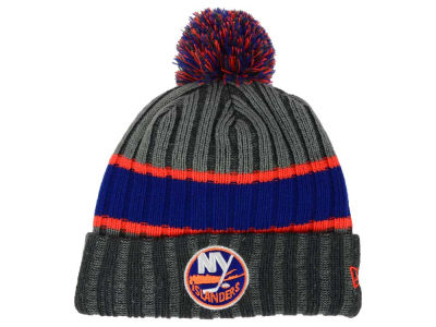 New York Islanders New Era NHL Stripe Chiller Pom Knit