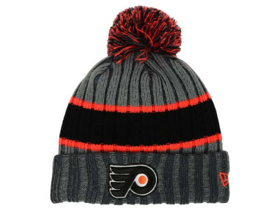 Philadelphia Flyers New Era NHL Stripe Chiller Pom Knit