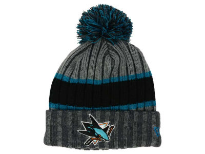 San Jose Sharks New Era NHL Stripe Chiller Pom Knit