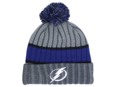 Tampa Bay Lightning New Era NHL Stripe Chiller Pom Knit