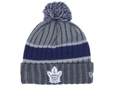 Toronto Maple Leafs New Era NHL Stripe Chiller Pom Knit