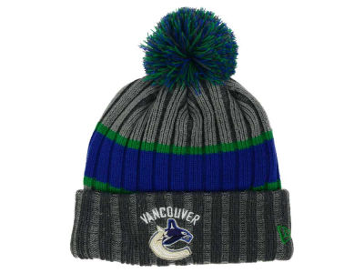 Vancouver Canucks New Era NHL Stripe Chiller Pom Knit