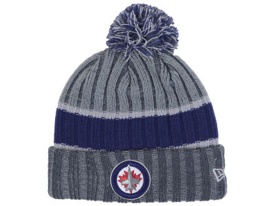 Winnipeg Jets New Era NHL Stripe Chiller Pom Knit