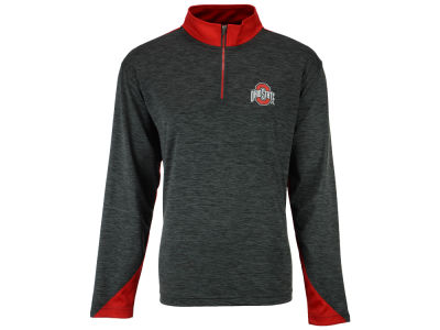 Ohio State Buckeyes J America NCAA Men's Spacedyed 1/4 Zip Pullover
