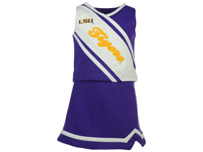 LSU Tigers Outerstuff NCAA Toddler Girls 2 Piece Cheerleader Set