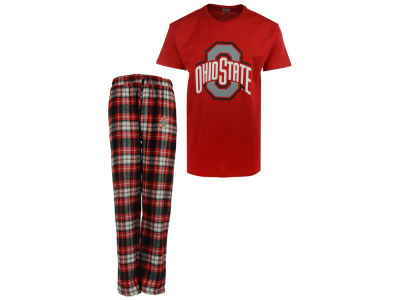 Ohio State Buckeyes J America NCAA Men's Flannel Pajama Set