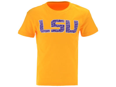 LSU Tigers Outerstuff NCAA Kids Wordplay Logo Fill T-Shirt