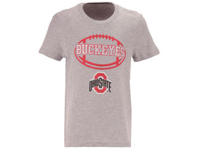 Ohio State Buckeyes Outerstuff NCAA Youth Girls Football Spiral T-Shirt