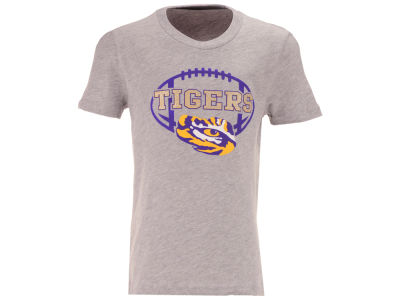 LSU Tigers Outerstuff NCAA Youth Girls Football Spiral T-Shirt