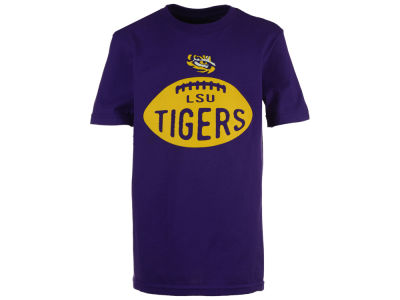 LSU Tigers Outerstuff NCAA Youth Embossed Football T-Shirt