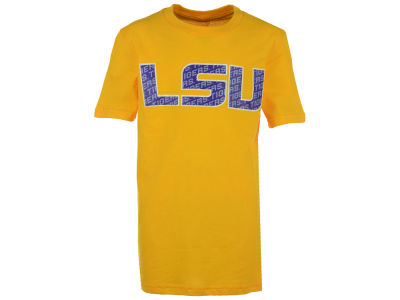 LSU Tigers Outerstuff NCAA Youth Wordplay Logo Fill T-Shirt