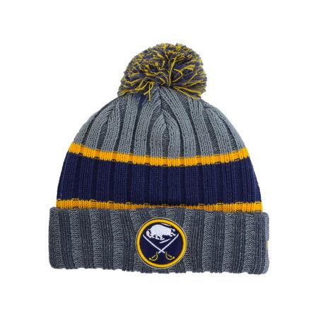 Buffalo Sabres New Era NHL Youth Stripe Chiller Pom Knit