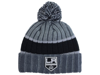 Los Angeles Kings New Era NHL Youth Stripe Chiller Pom Knit