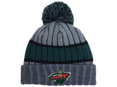 Minnesota Wild New Era NHL Youth Stripe Chiller Pom Knit