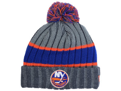 New York Islanders New Era NHL Youth Stripe Chiller Pom Knit
