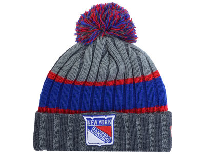 New York Rangers New Era NHL Youth Stripe Chiller Pom Knit