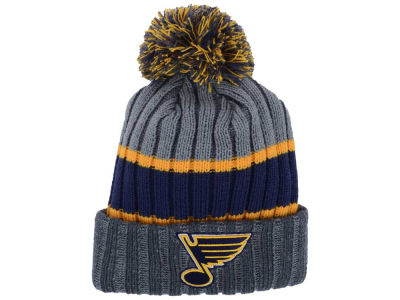 St. Louis Blues New Era NHL Youth Stripe Chiller Pom Knit