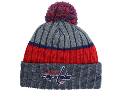 Washington Capitals New Era NHL Youth Stripe Chiller Pom Knit