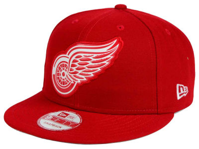 Detroit Red Wings New Era NHL Bevel 9FIFTY Snapback Cap