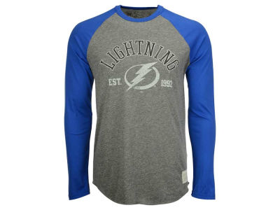 Tampa Bay Lightning Retro Brand NHL Men's Tri-Blend Raglan Long Sleeve T-Shirt