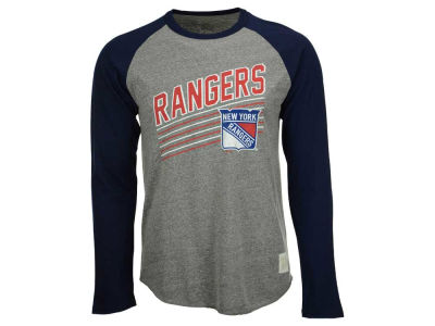 New York Rangers Retro Brand NHL Men's Tri-Blend Raglan Long Sleeve T-Shirt
