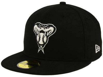 Arizona Diamondbacks New Era MLB Black and White Fashion 59FIFTY Cap