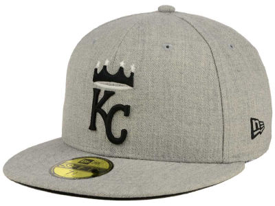 Kansas City Royals New Era MLB Gray BW 59FIFTY Cap
