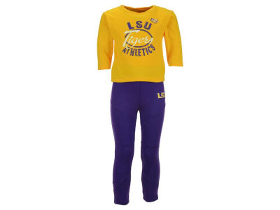LSU Tigers Outerstuff NCAA Infant Girls Football Sweetheart Set