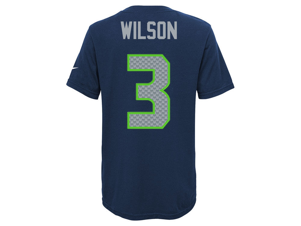 6a1352f07 Seattle Seahawks Russell Wilson Nike NFL Youth Pride Name and Number T-Shirt