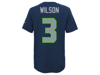 Seattle Seahawks Russell Wilson Nike NFL Youth Pride Name and Number T-Shirt