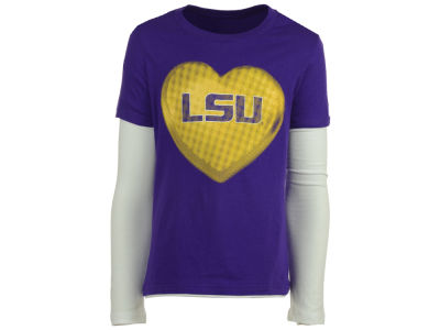 LSU Tigers Outerstuff NCAA Youth Girls Watercolors Long Sleeve T-Shirt