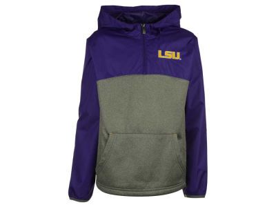 LSU Tigers Outerstuff NCAA Youth Convex 1/4 Zip Pullover Hoodie