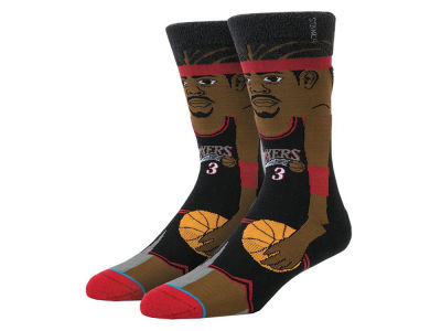 Philadelphia 76ers Allen Iverson Stance Cartoon Legend Player Socks