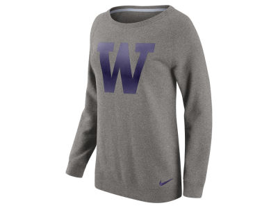 Washington Huskies Nike NCAA Women's Champ Drive Boyfriend Crew Sweatshirt