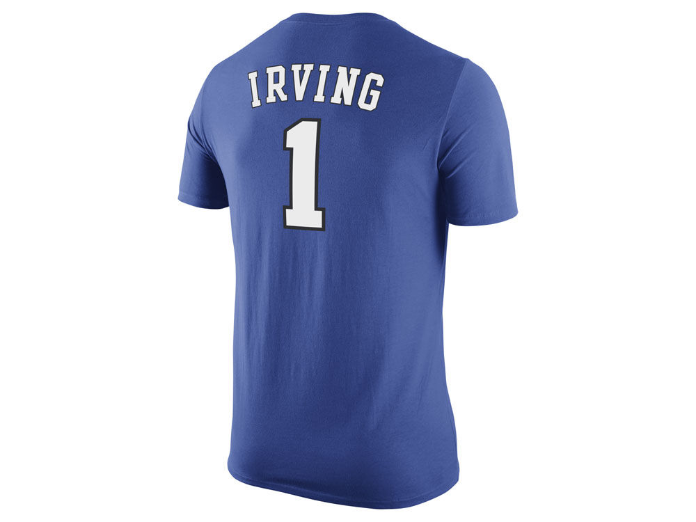 a038b1445 Duke Blue Devils Kyrie Irving Nike NCAA Future Star Replica T-Shirt ...