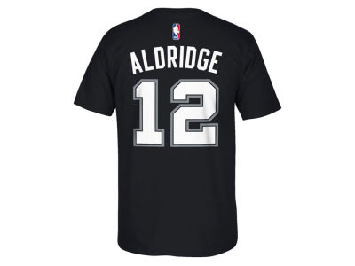 San Antonio Spurs LaMarcus Aldridge NBA Kids Name And Number T-Shirt